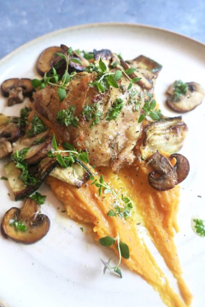 Frijsenborg kylling i ovn med sød kartoffel