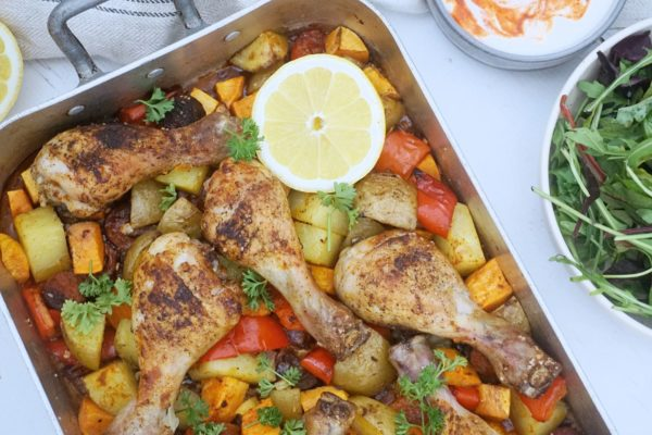 Spansk inspireret kyllingeret med chorizo
