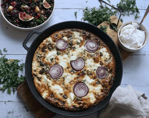 Æggekage med Frijsenborg kylling og grønkål