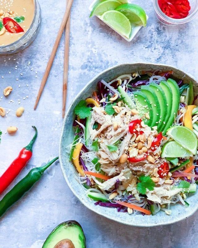 Frijsenborg Asiatisk nudelsalat med kylling
