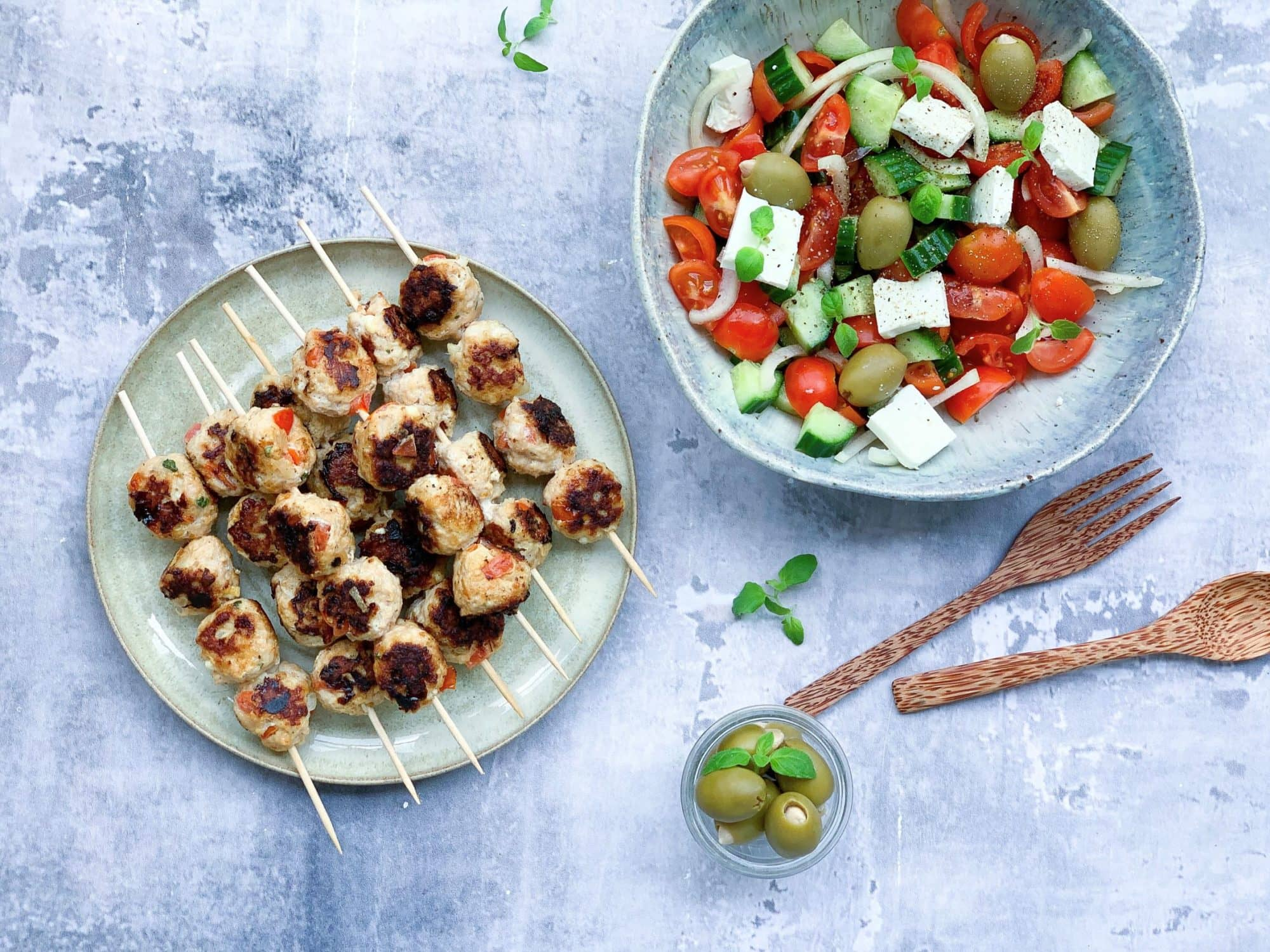 Frijsenborg græske kyllingespyd med feta