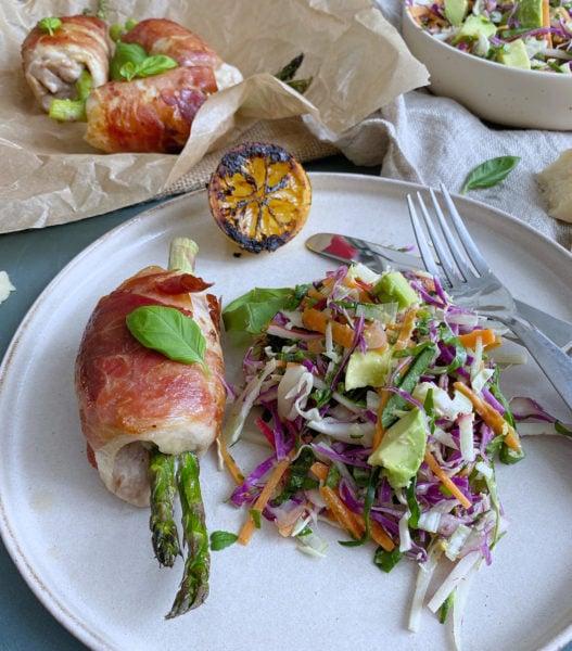 Frijsenborg lårfilet med asparges og parmesan