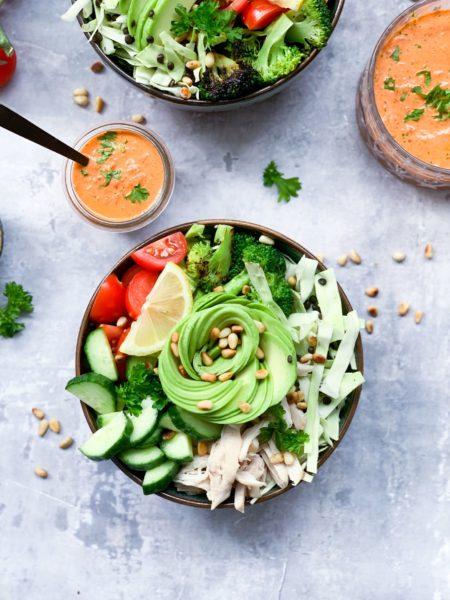 Frijsenborg salatbowl med kylling